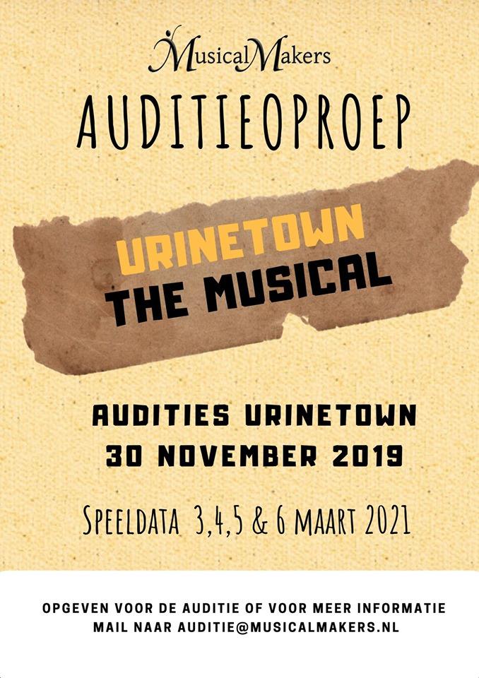 MusicalMakers auditie oproep Urinetown
